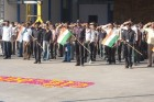Saluting to the national flag under The Indian Republic Day - 2012