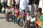 Kids with national flag