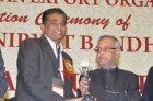 "Mr. Arvindbhai Pan(MD) receiving Award by current President of India under FIEO ""Nryat Shree Award"" - 2012"