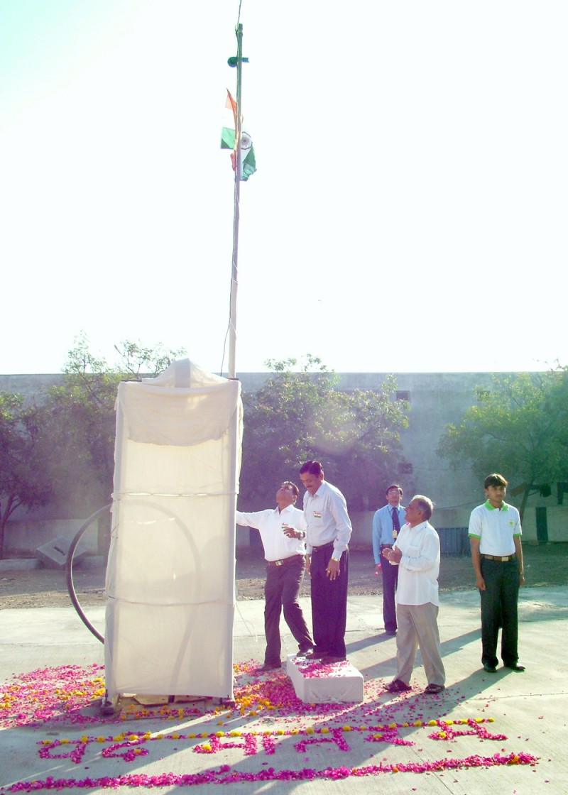 Our Chairman Saluting to Indian National Flag