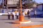 Staff Saluting The Indian Flag under The Indian Republic Day - 2011